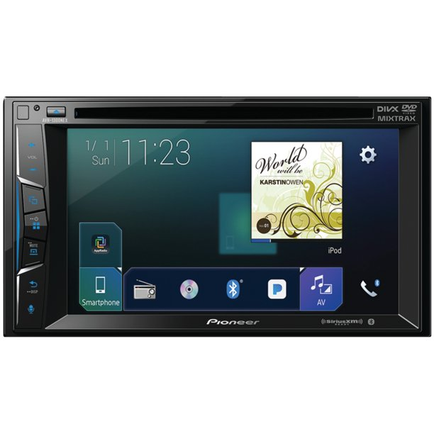 "Pioneer AVH-1300NEX 6.2"" Double-DIN In-Dash NEX DVD Receiver with Bluetooth, Apple CarPlay, FLAC Audio and SiriusXM Ready"