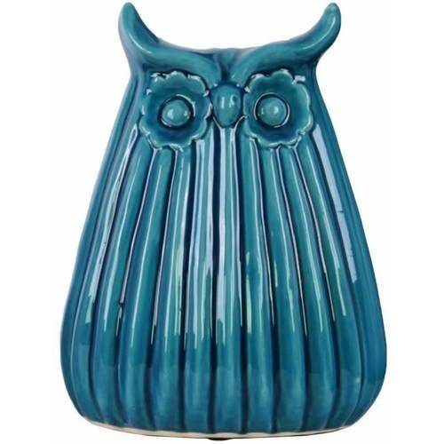 Urban Trends Collection: Ceramic Owl Figurine, Gloss Finish, White