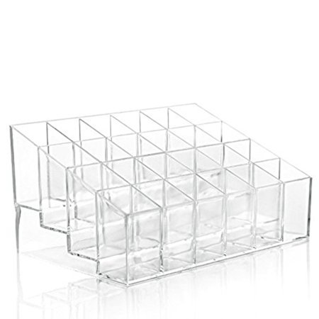 24 Stand Transparent Plastic Trapezoid Acrylic Makeup Cosmetic Organizer Display Stand