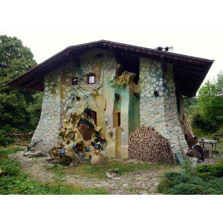 Canvas Print Slovakia Fairy Tale Myjava House Stretched Canvas 10 x 14