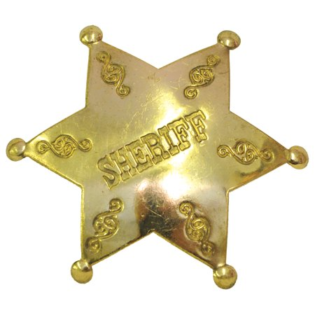 Sheriff Badge Adult Halloween Accessory](Woody Sheriff Badge)