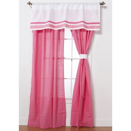 Simplicity Hot Pink Curtain Panel Pair with Optional Valance
