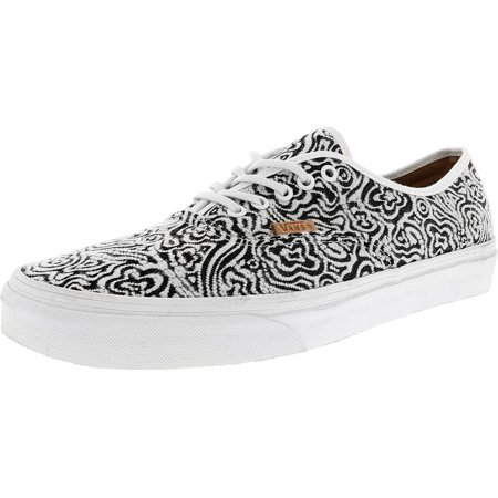 556437b46dc621 Vans - Vans Authentic Ca Italian Weave Blanc De   Black Ankle-High Canvas  Fashion Sneaker - 11M 9.5M - Walmart.com