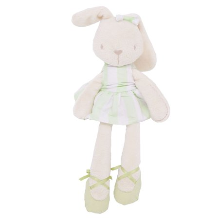 45cm Cute Rabbit Soft Plush Dress Rabbits Bunny Doll Soothing Toy Baby Pacifier Sleep Friend Girls (Ok For Baby To Sleep With Pacifier)