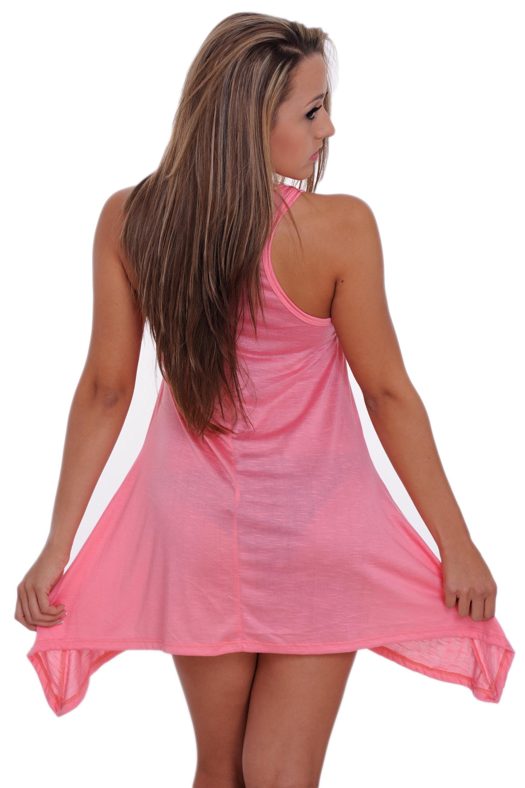 a2261b82e5 SHORE TRENDZ - Women s USA Flag Red White   Blue Flare Dress Swimwear Cover- up - Walmart.com