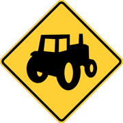 Traffic Signs - Alternative Tractor/farm vehicle crossing sign (MUTCD) 12 x 18 Peel-n-Stick Sign Street Weather Approved Sign