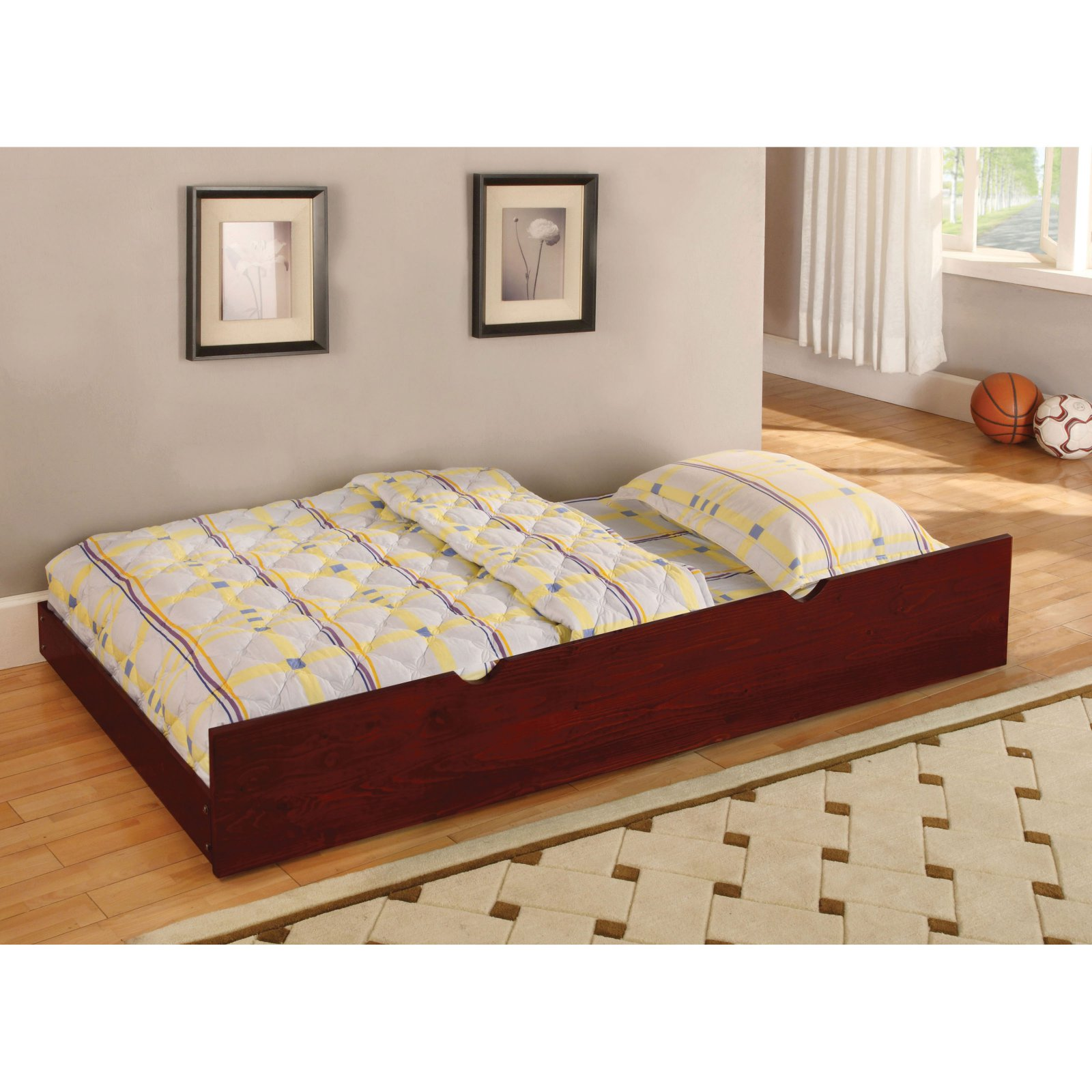 Furniture of America Parker Twin Trundle Bed by Enitial Lab