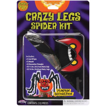 Crazy Pumpkin Legs Spider Pumpkin Carving Jack-O-Lantern Decroation Red Eyes - Pumpkin Spiders