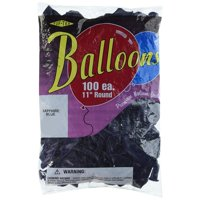 """Tuftex Latex Balloon, 11"""", Sapphire Blue, Made in the USA and is high quality durable natural latex and is biodegradable By Maple City Rubber"""