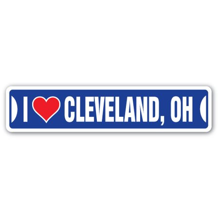 I LOVE CLEVELAND, OHIO Street Sign oh city state us wall road décor - Party City Cleveland Ohio