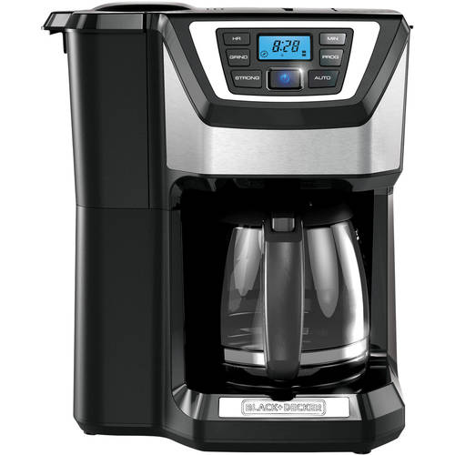 BLACK+DECKER Mill and Brew 12-Cup Programmable Coffee Maker with Grinder, CM5000B