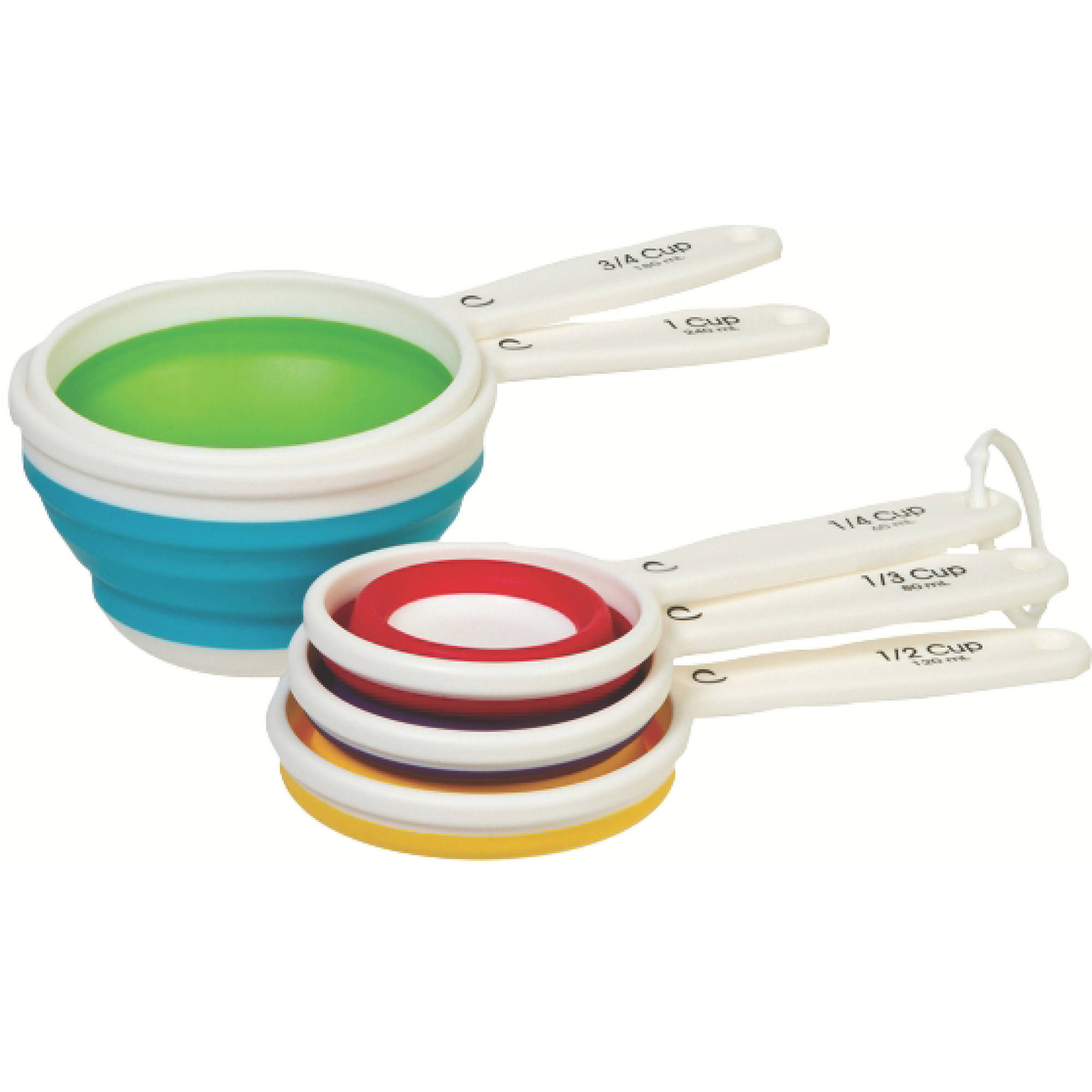 Prepworks Collapsible Measuring Cups, Five Piece Set