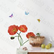SH-804 Delicate Flowers - Wall Decals Stickers Appliques Home Decor