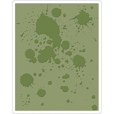 Sizzix Texture Fades Embossing Folder By Tim Holtz-Ink (Embossing Ink)