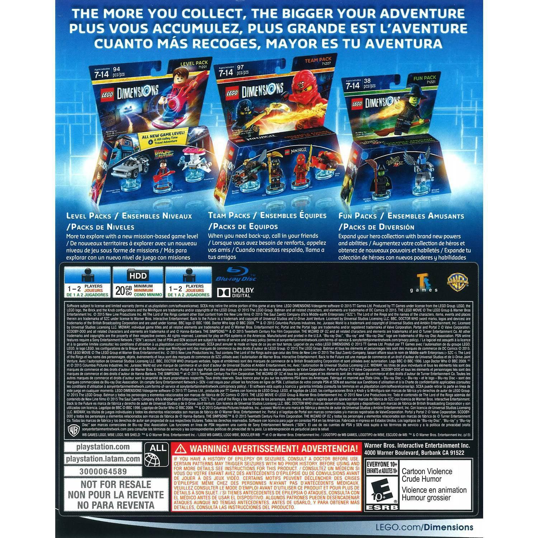 Warner Bros Lego Dimensions Starter Pack Ps4 Walmart Com
