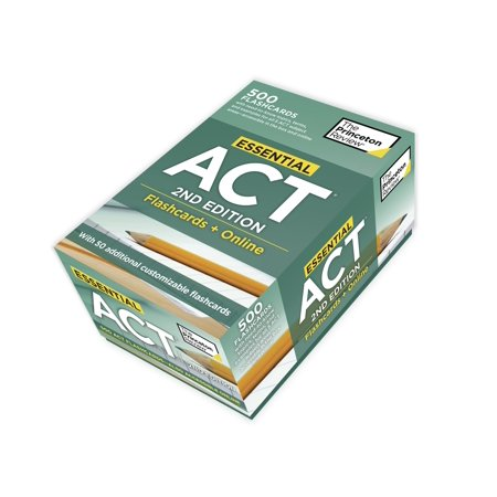 Essential ACT, 2nd Edition: Flashcards + Online : 500 Need-to-Know Topics and Terms to Help Boost Your ACT Score ()