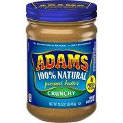 Adams Natural Crunchy Peanut Butter, 16-Ounce