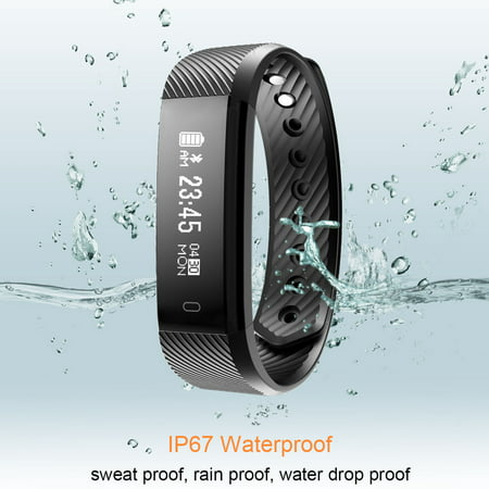 Fitness Tracker watch, Diggro ID115 Smart Bracelet Activity Tracker with Pedometer Calorie Sleep Monitor Call/SMS Reminder Sedentary Reminder Without Heart Rate for Android IOS (Sleep And Step Tracker)