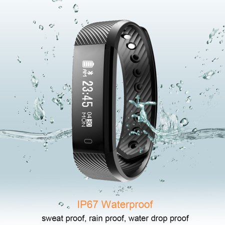 Fitness Tracker watch, Diggro ID115 Smart Bracelet Activity Tracker with Pedometer Calorie Sleep Monitor Call/SMS Reminder Sedentary Reminder Without Heart Rate for Android - Plus Heart Rate Monitor Watch