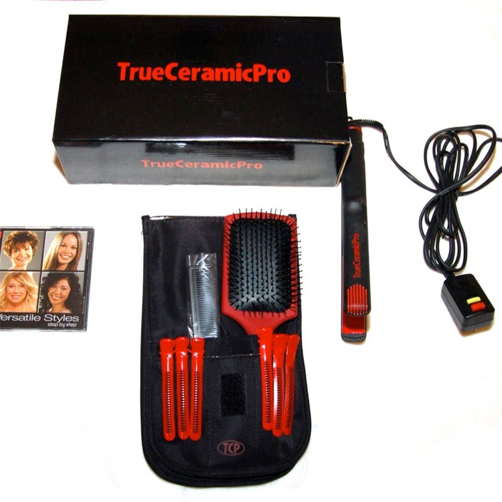 True Ceramic Pro Infrared Hair Straightener Ionic Styler