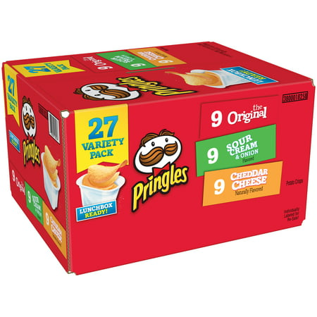Pringles Variety Pack, Three Flavors, 27 CT