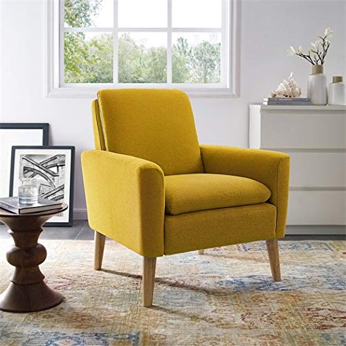 Superieur Dazone Modern Accent Fabric Chair Single Sofa Comfy Upholstered Arm Chair  Living Room Furniture Yellow