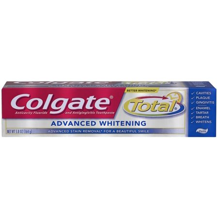 Colgate total Dentifrice Blanchissant avancé 5,80 oz (Pack de 3)