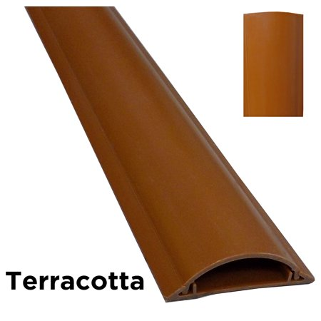 cable shield cord cover protector floor color terracotta length 59 width. Black Bedroom Furniture Sets. Home Design Ideas