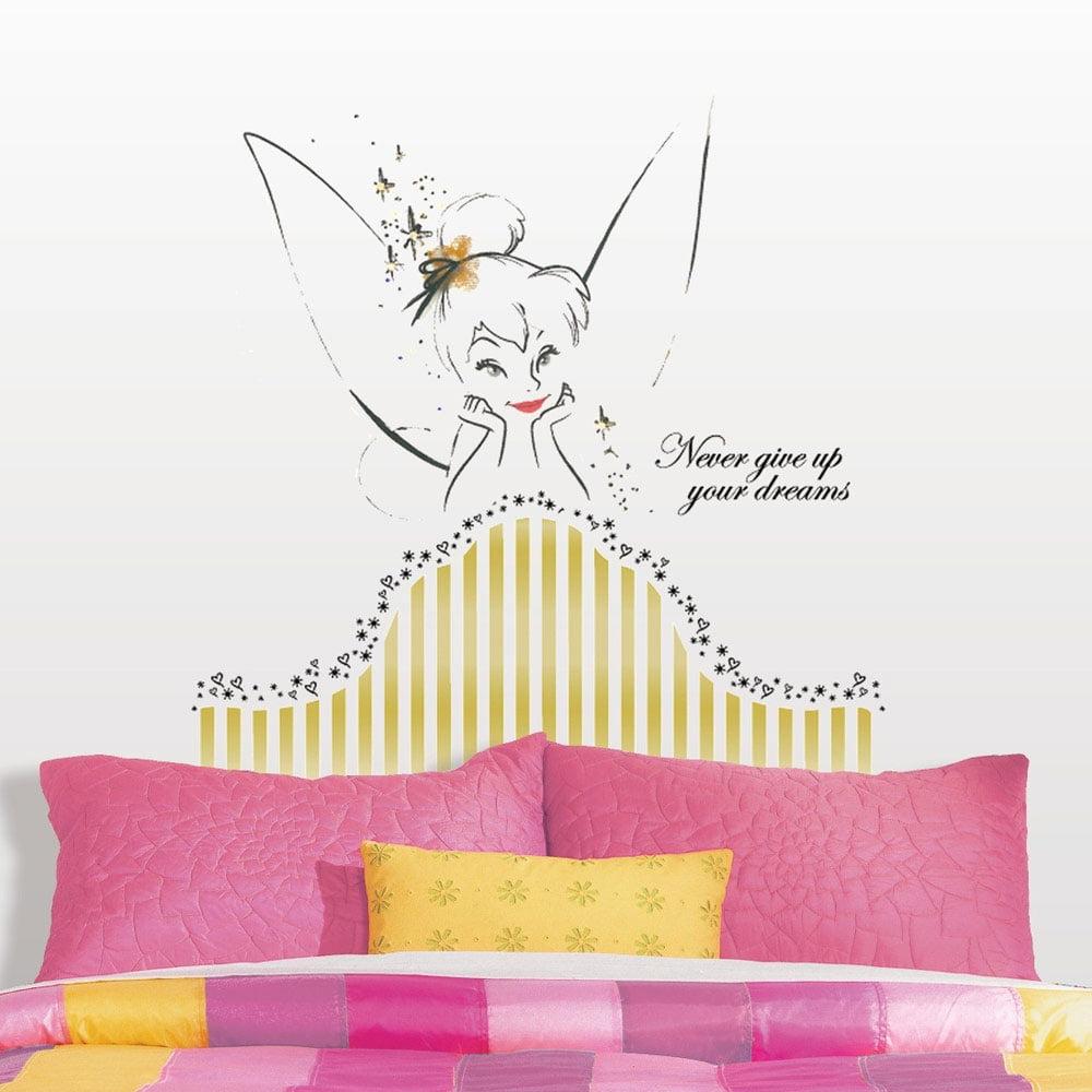 Room mates popular characters disney fairies tinkerbell headboard room mates popular characters disney fairies tinkerbell headboard giant wall decal walmart amipublicfo Images