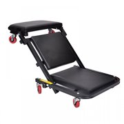 "40""Foldable Z Creeper Seat Black Maintenance Shop Car Garage Padded Bed"