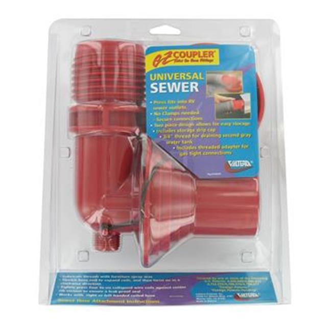 VALTERRA LLC F023305VP Ez Coupler Sewer Hose Connector, Red