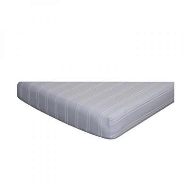 Go Mama Go Designs Crib Sheet, Blue/Cream Stripes