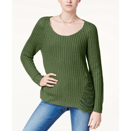 Planet Gold - Ripped Sweater - Juniors - S