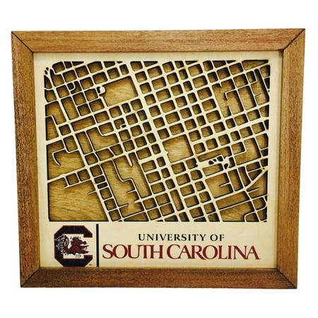 Southern Design Collegiate Wood Map Wall Art - Walmart.com