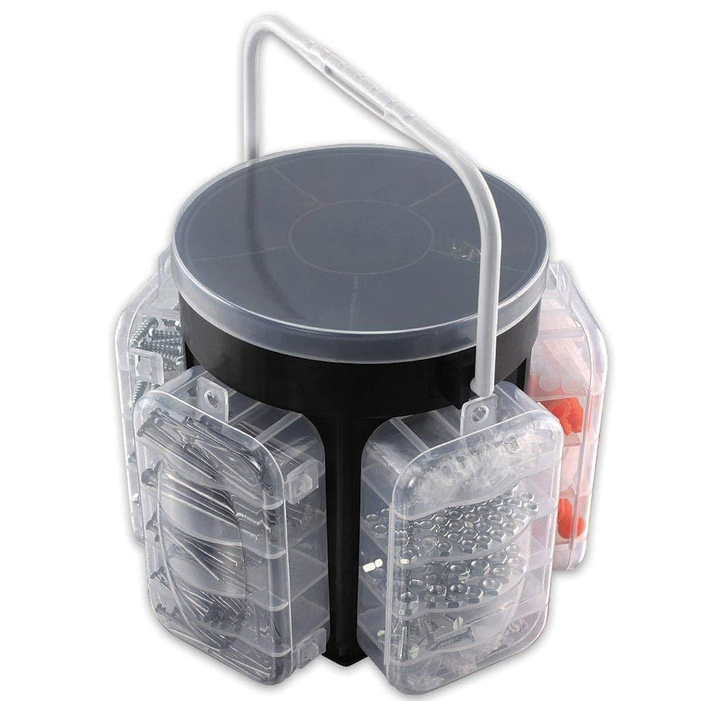 600 piece Hardware Caddy Portable for Repairs /& Hold Tools
