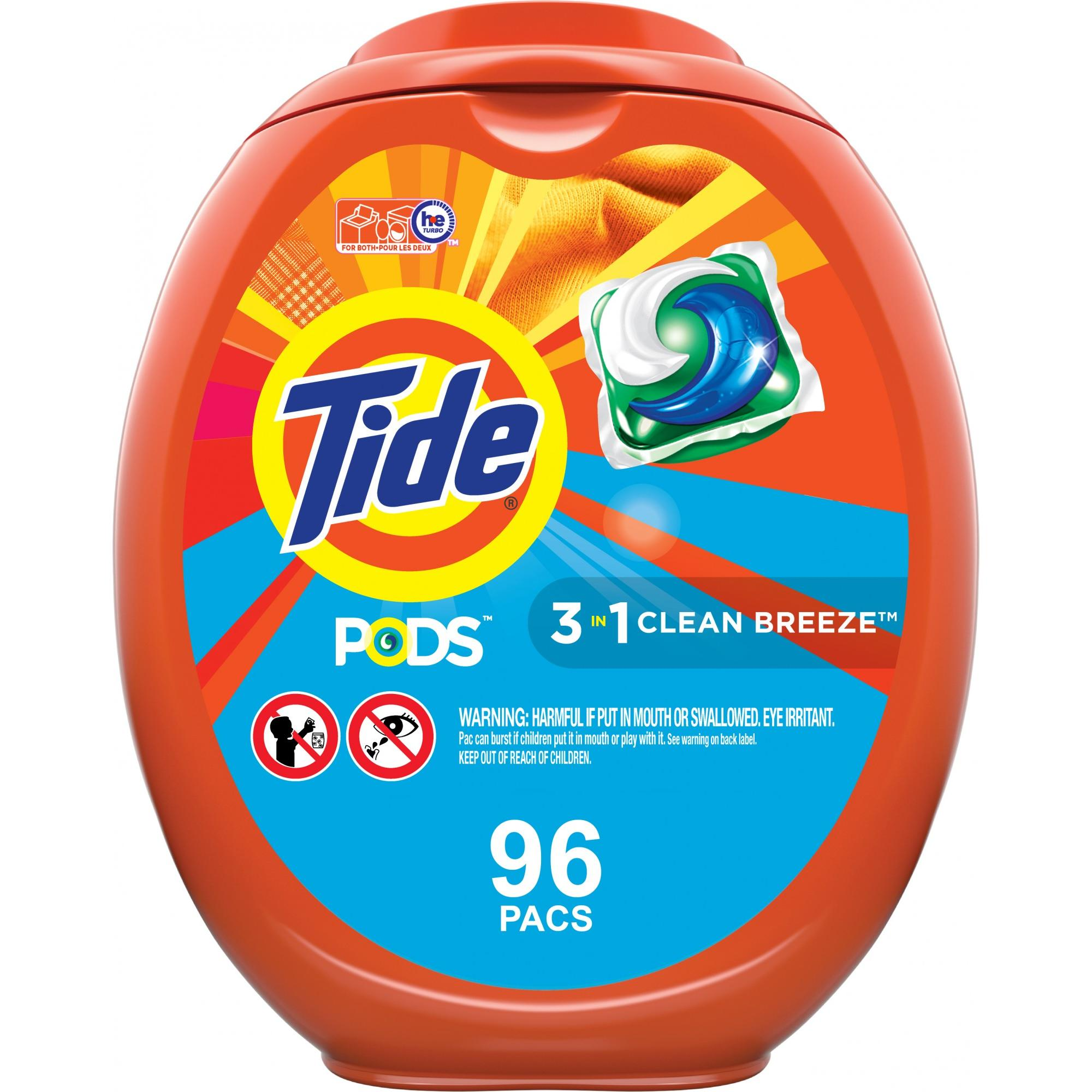 Tide Pods Clean Breeze, 96 Ct Laundry Detergent Pacs