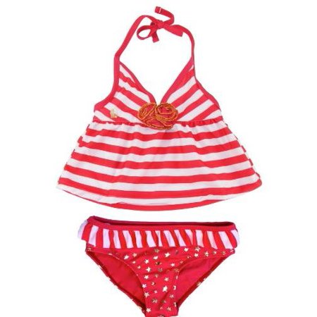 Rugged Bear Baby Girls Sailing 2Pc Tankini Two Piece Swimsuit 12 months