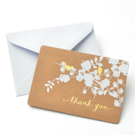 Gartner Studios Bird Thank You Card, 50 Piece](Cheap Wedding Thank You Cards)