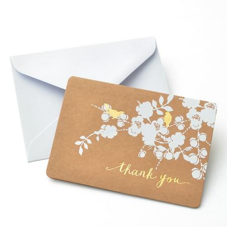 Gartner Studios Bird Thank You Card, 50 Piece](Small Thank You Cards)