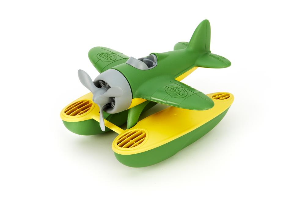 Phthalate Free Floatplane for Improving Pincers Grip Toys and Games SEAG-1029 Green Toys Seaplane in Green Color BPA Free