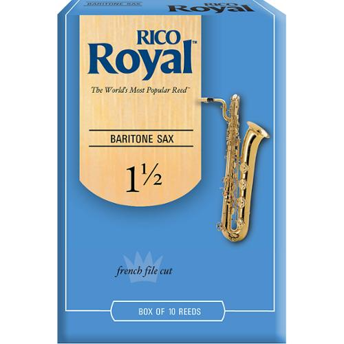 Rico Royal Baritone Saxophone Reeds, Box of 10 Strength 1.5 by Rico Royal