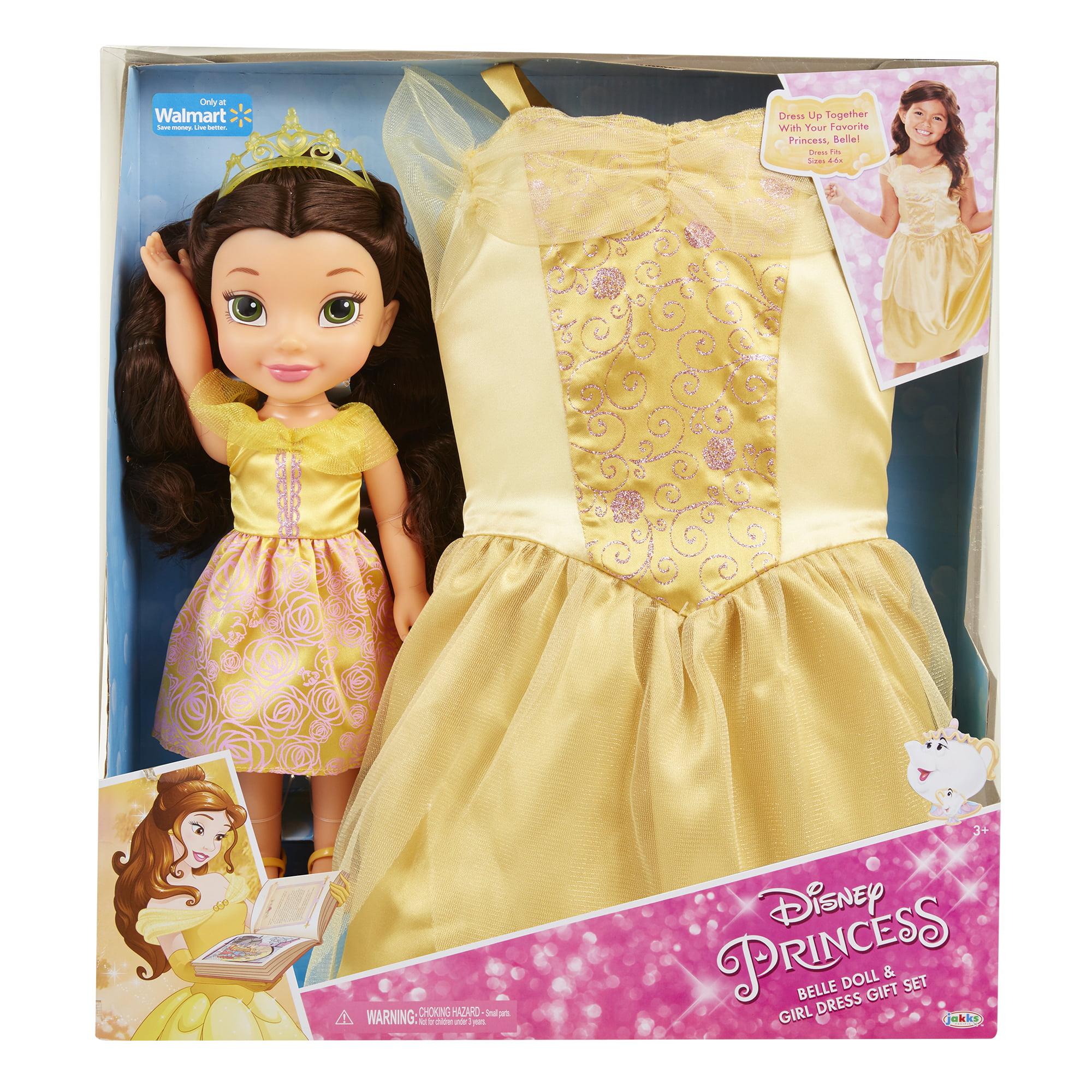 559cf95abbfb4 Disney Princess Belle Toddler Doll and Dress - Walmart.com