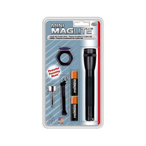 Mini MagLite 2-Cell AA Flashlight Combo Pack, Black
