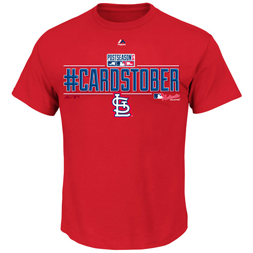 St. Louis Cardinals Majestic Youth Post Season Clinch T-Shirt - Red
