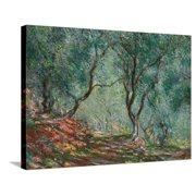 Olive Trees in the Moreno Garden, 1884 Stretched Canvas Print Wall Art By Claude Monet
