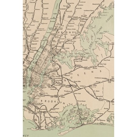 Poetose Notebooks: 1921 Freight Map of the Metropolitan District of New York and its Vicinity - A Poetose Notebook / Journal / Diary (50 pages/25 sheets) (Paperback)