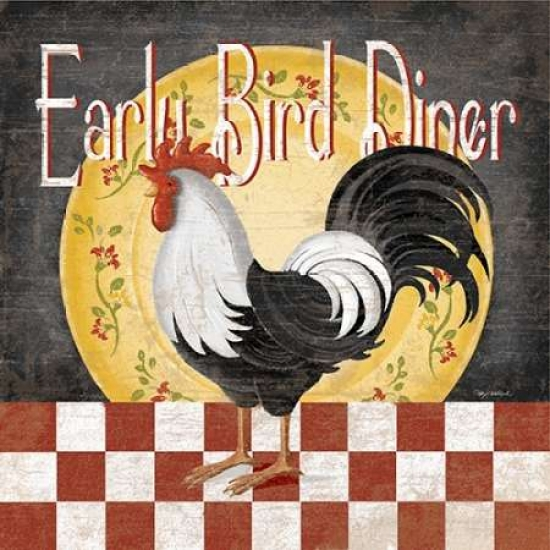 Early Bird Diner Poster Print by Kathy Middlebrook