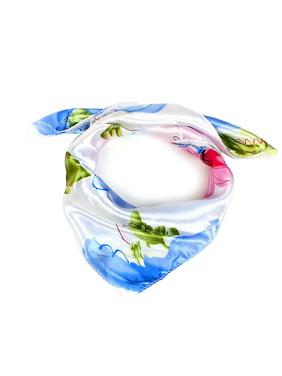 Flower Print Polyester Neck Scarves Neckerchief for Women