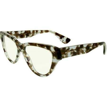 Miu Miu Women's MU10NV-UAH1O1-52 Tortoiseshell Butterfly Sunglasses