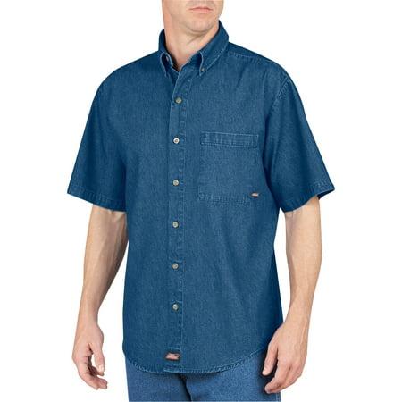 f3d243b76d5 Dickies - Genuine Big Men s Short Sleeve Denim Shirt - Walmart.com